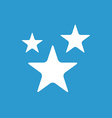 stars icon white on the blue background vector image vector image