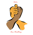 The Arm Wrestling vector image