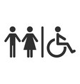 toilet signs isolated icons for restroom vector image vector image