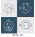 Trendy Retro Vintage Insignias Bundle Animals vector image vector image