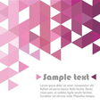 Triangle abstract pink vector image vector image
