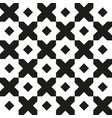 vintage geometric seamless pattern retro black vector image