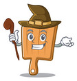 witch kitchen board character cartoon vector image
