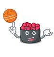 with basketball ikura character cartoon style vector image