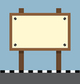 wooden sign board at footpath vector image vector image