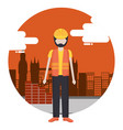 worker construction city vector image