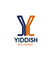 y letter icon for yiddish art center vector image vector image
