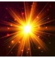 Yellow cosmic explode vector image