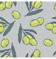 Branches of olives seamless pattern Hand drawn vector image