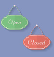 Signs of Open and Closed Open closed icons vector image