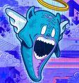 angel monster vector image