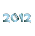 2012 made from blue stickers vector image