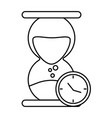 abstract clock object vector image vector image