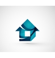 Abstract geometric company logo home house vector image vector image