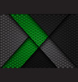 abstract green arrow on dark gray hexagon vector image vector image