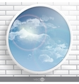 Abstract Round Shape With Frame vector image
