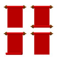 ancient red paper scrolls set on white background vector image