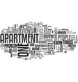 apartment locators text word cloud concept vector image vector image