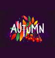 autumn inscription vector image vector image