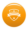 badge knight icon orange vector image vector image