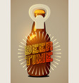 beer time typographic retro beer poster eps10 vector image vector image