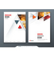 brochure template layout design corporate vector image vector image