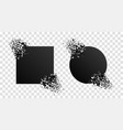 broken geometric shape with explosion particles vector image