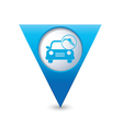 car with fast refueling icon map pointer blue vector image vector image