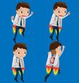 Character Worker Rocketteer Startup Fly vector image vector image