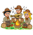 children scouts theme image 1 vector image vector image