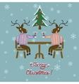 Christmas deer in sweater vector image vector image