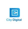 City Digital vector image vector image