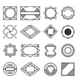 collection of universal black geometric shapes vector image