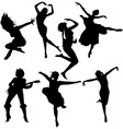 Dancing women silhouettes vector | Price: 1 Credit (USD $1)