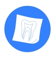 Dental x-ray icon in black style isolated on white vector image vector image