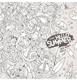 doodles abstract decorative summer vector image vector image