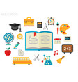 education concept flat vector image vector image