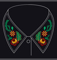 embroidery pattern for design vector image vector image
