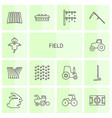field icons vector image vector image