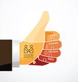 fingers shape good ok jigsaw banner concept vector image vector image