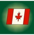 Flag of Canada pop art vector image