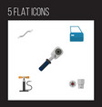 flat auto set of turnscrew wheel pump coupler vector image vector image