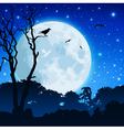 forest landscape with moon vector image