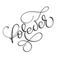 forewer word on white background hand drawn vector image vector image
