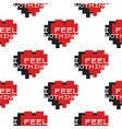 funny valentines day typography seamless pattern vector image