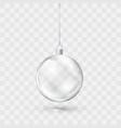 glass transparent christmas ball xmas ball vector image vector image