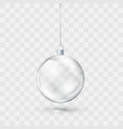 glass transparent christmas ball xmas glass ball vector image vector image