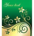 Green and Gold Floral Design vector image vector image