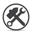 hammer logo icon vector image vector image