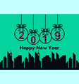 happy new year 2019 logo vector image